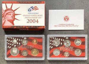 USA-2004-SILBER-Proof-Set-San-Francisco-PP-polierte-Platte-State-Quarter-1c-1