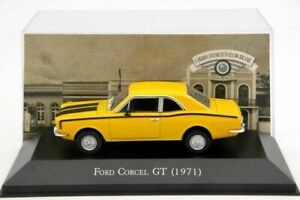 1-43-IXO-Ford-Corcel-GT-1971-Diecast-Models-Auto-Collection-Cars-Yellow