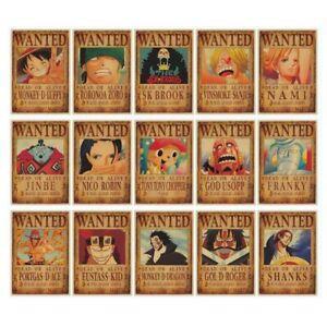 Cartoon-Anime-Vintage-One-Piece-Posters-Retro-Paper-Wall-Sticker-Home-Bar-Decro