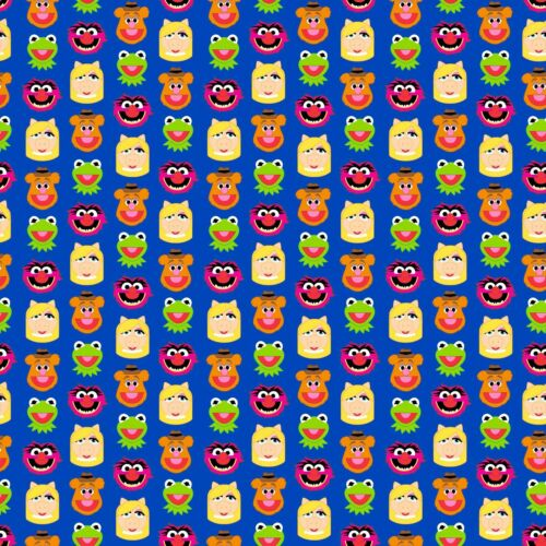 1 yard Disney  Emojiland Muppets Friends  Fabric