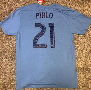 New-Adidas-Men-039-s-MLS-NYC-Football-Club-Pirlo-Soccer-T-Shirt-Size-large