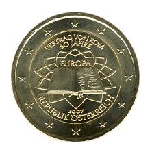 ÖSTERREICH - 2 Euro 2007 - RÖMISCHE VERTRÄGE - vergoldet (12038/878N)
