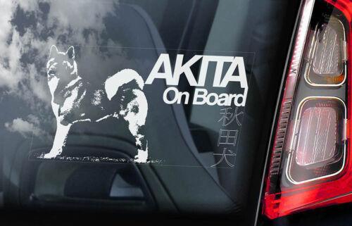 American Inu Ken Sign Decal Gift Idea Car Window Sticker V03 Akita on Board