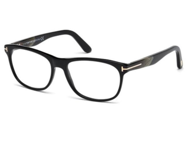 6021da4587 Tom Ford TF 5431 001 Eyeglasses Shiny Black Marble Frame Rectangular New  55mm