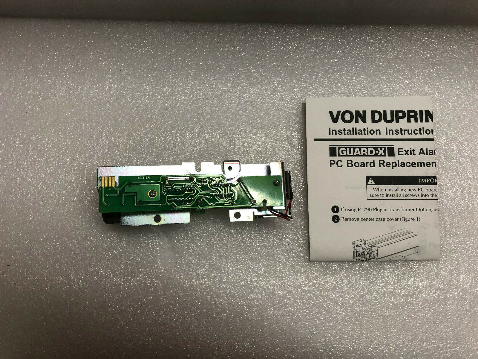 Von Duprin 900-2RS 2 Zone Relay Output Option Board PCB 44489896-00 NEW IN BOX