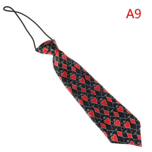 Satin colorful elastic neck tie for wedding prom boys school children ties F/_X