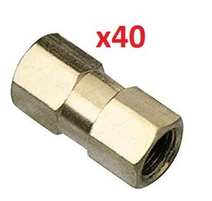 40-x-Brake-Pipe-Nuts-2-way-Female-Connector-Joiner-Joint-10mm-x-1mm-3-16-Pipe