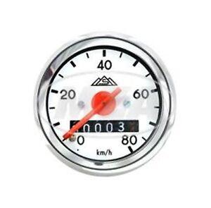 SIMSON   Tachometer  Tacho mit Beleuchtung  80 Km/h  Durchmesser  48 mm  S50