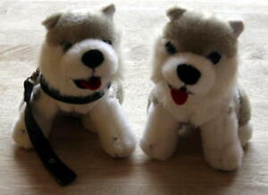 Two-Little-Cuddly-Dogs-Soft-Toy-Used