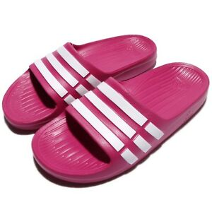 ea45b03c7 adidas Duramo Slide K Pink White Kids Youth Girls Sports Sandal ...