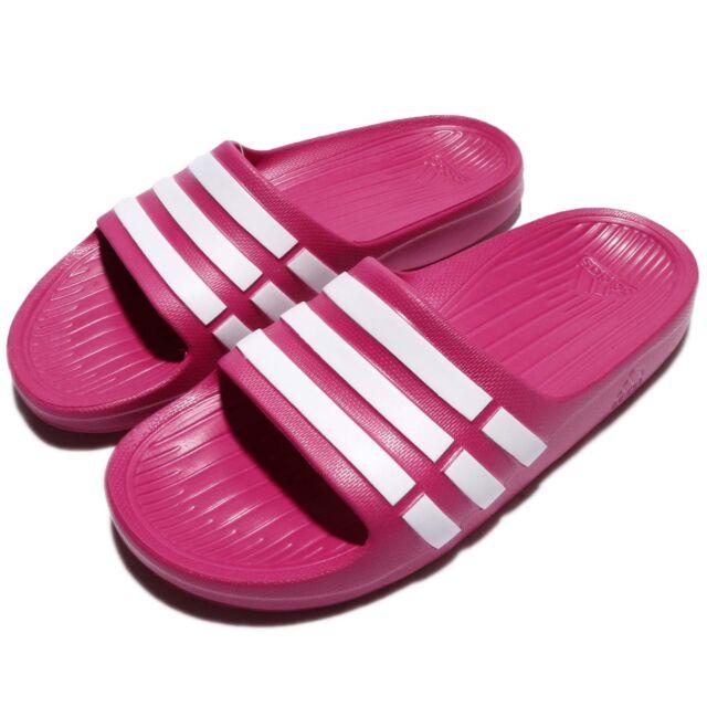 c8bf1936f480 adidas Duramo Slide K Pink White Kids Youth Girls Sports Sandal Slippers  G06797
