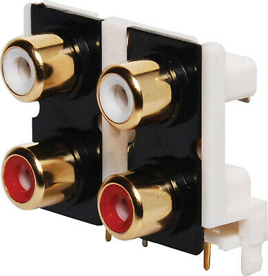 IN-LINE PHONO SOCKET RED//GOLD PSG02005 PRO SIGNAL
