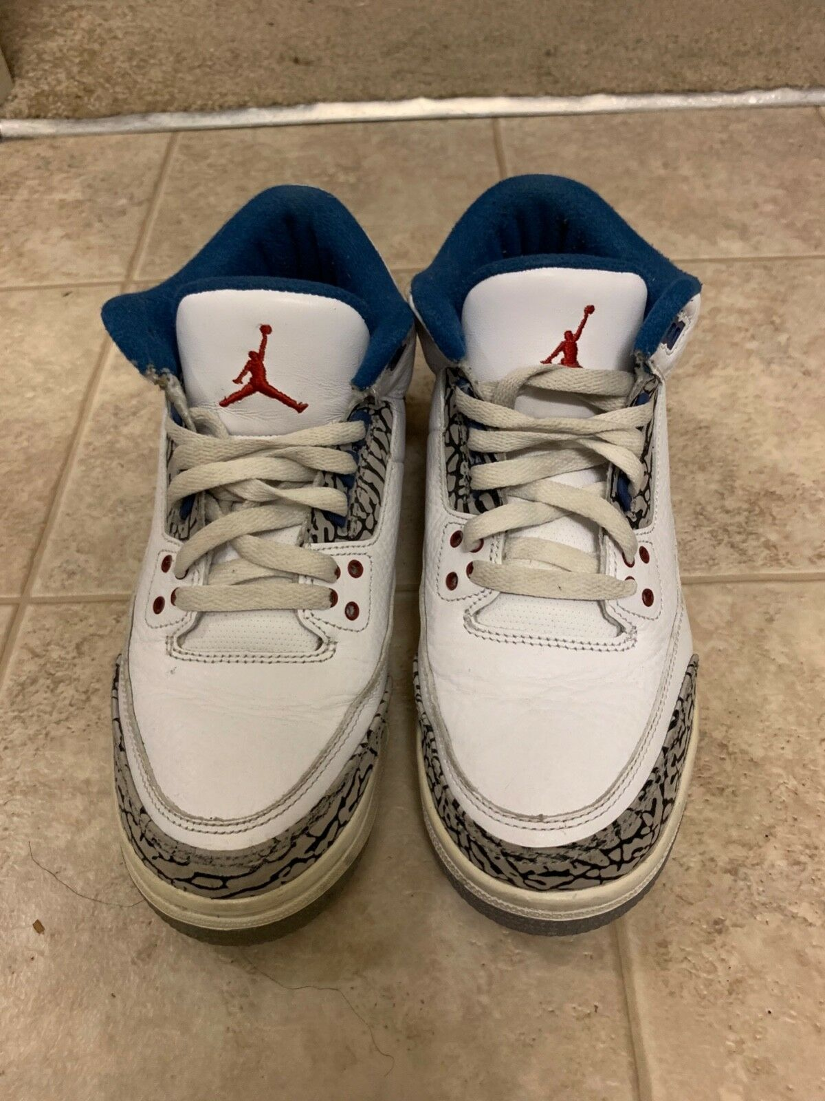 Nike air jordan retro 3 true blueee size 7