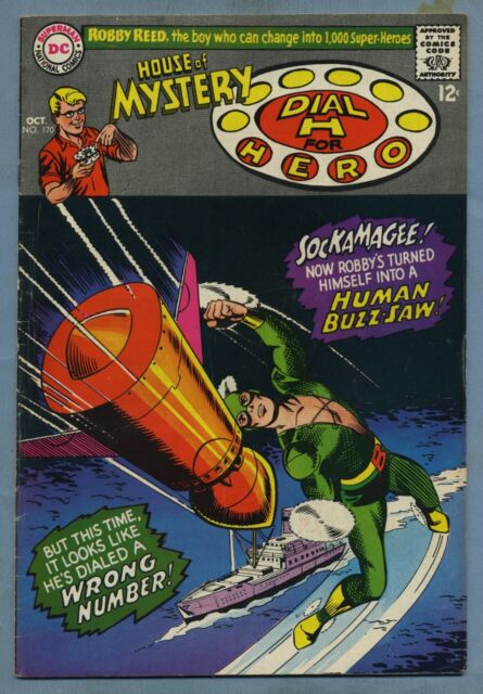House of Mystery #170 1967 Dial a Hero J'onn J'onzz Martian Manhunter DC m