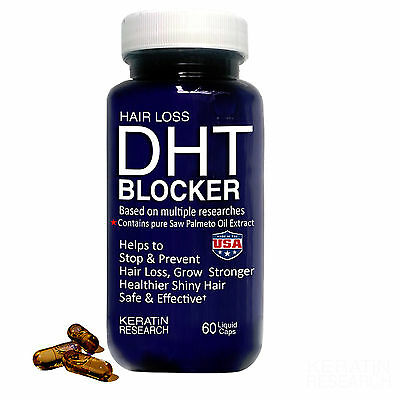 DHT BLOCKER Prevent Hair Loss With Pure Saw Palmetto Oil by Keratin Research USA