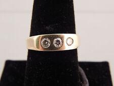 Men's Diamond Ring .36 CT G/SI 14K YG Estate Designer Dice Pinky Ring