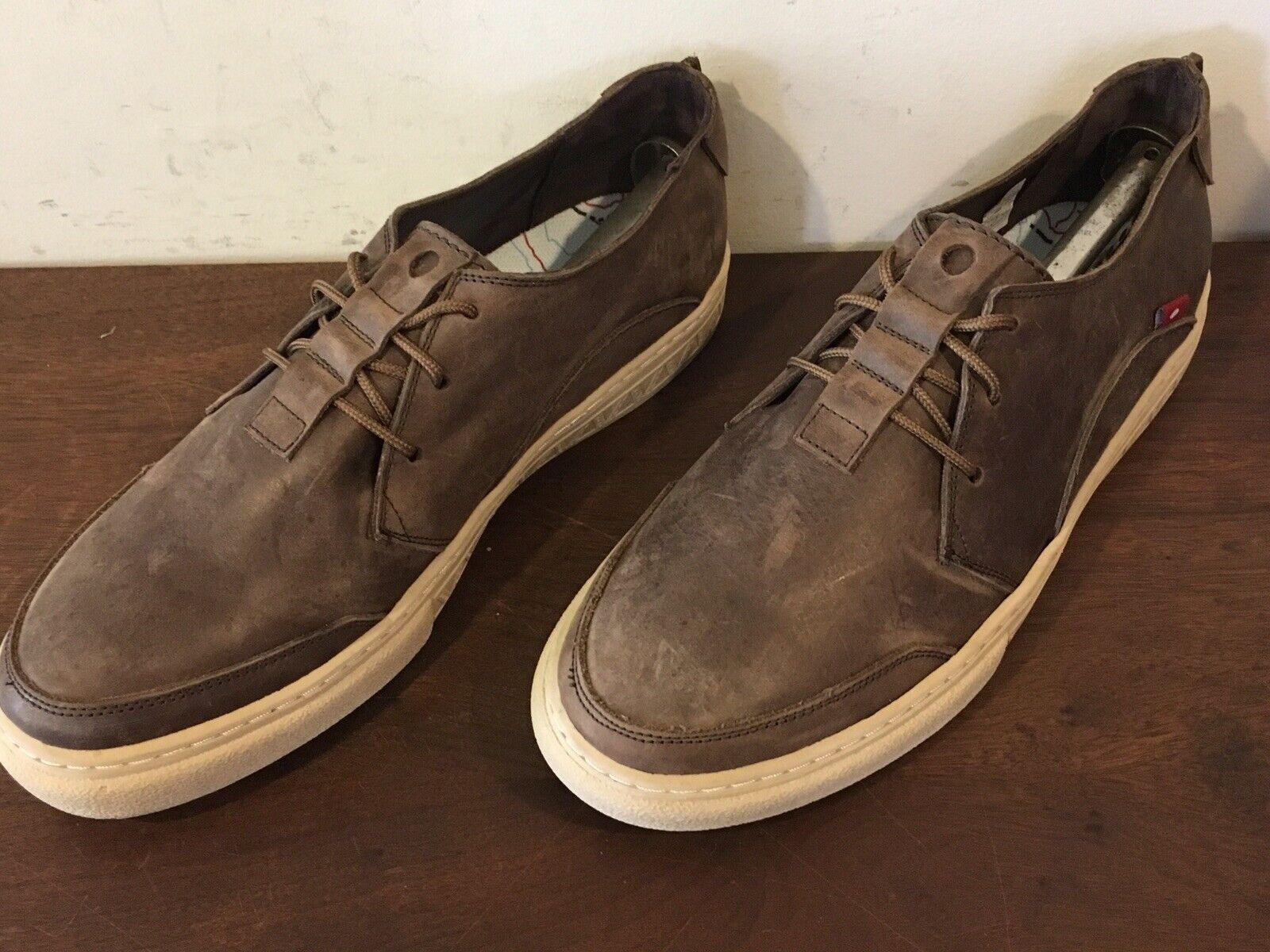Oliberte Mens Marronee Distressed Leather sautope Sz. 11.5 M