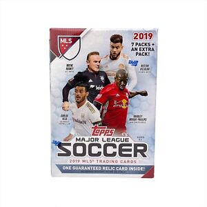2019 Topps MLS Soccer Blaster Box Trading Cards - One Guaranteed Relic Card!