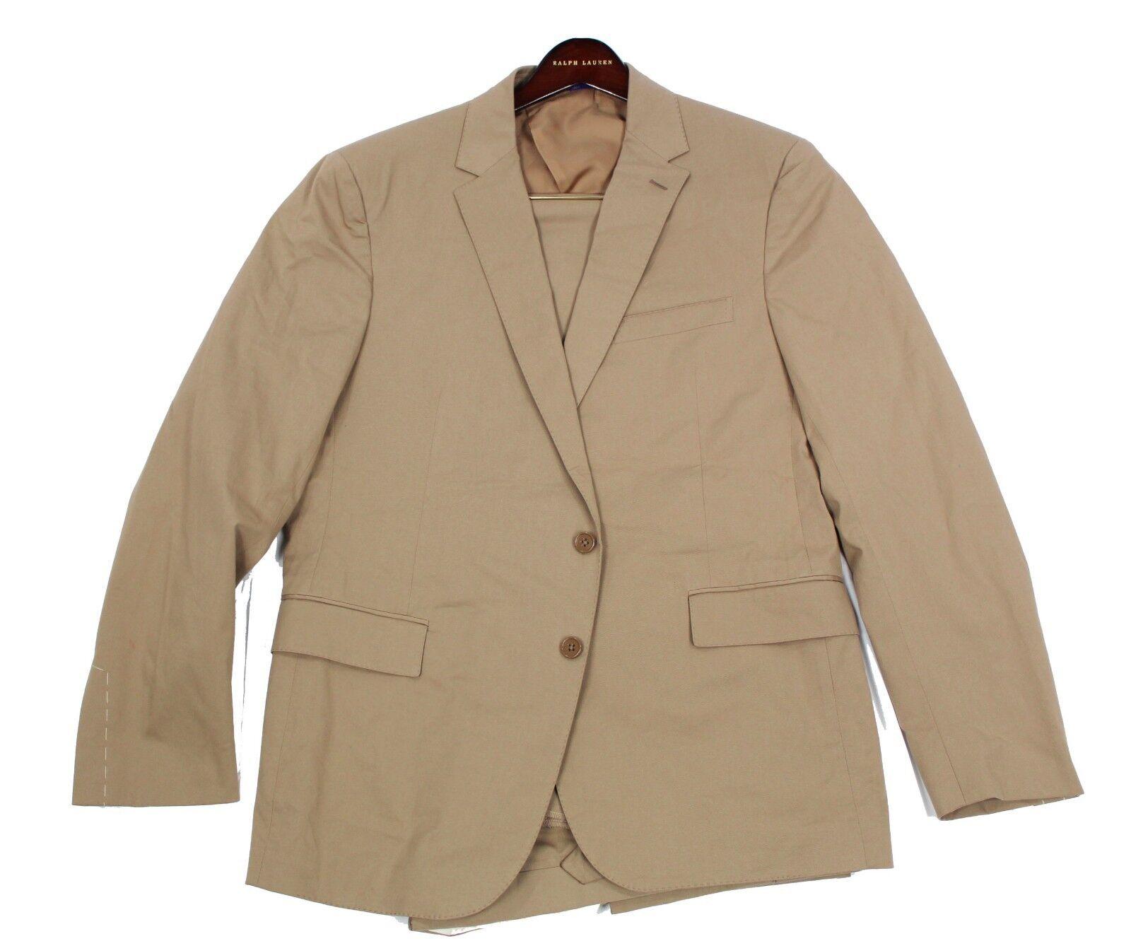 Ralph Lauren Purple Label  Mens Brown Khaki Nigel 2 Button Slim Suit 44R