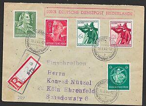 German Reich covers 1944 R-cover Deutsche Dienstpost Niederlande/Herzogenbusch