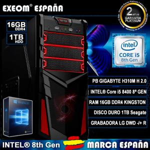 Ordenador-Pc-Gaming-Intel-Core-i5-8400-6xCORES-16GB-DDR4-1TB-HDD-HDMI-Sobremesa