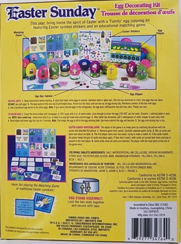 Easter Egg Coloring /& Decorating kits Select Type