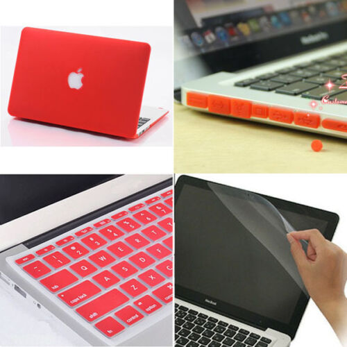Plug For MacBook pro 13 and Retina Pro 4in1 Matt Hard Case Cover Keyboard Cover