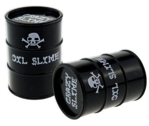 Schleim Glibber Öl Tonne Fass 6,5 cm Schwarz Mitgebsel Kinder Geburtstag Slime