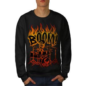 Drummer Skeleton Sweatshirt Men New Black 6vpAq4