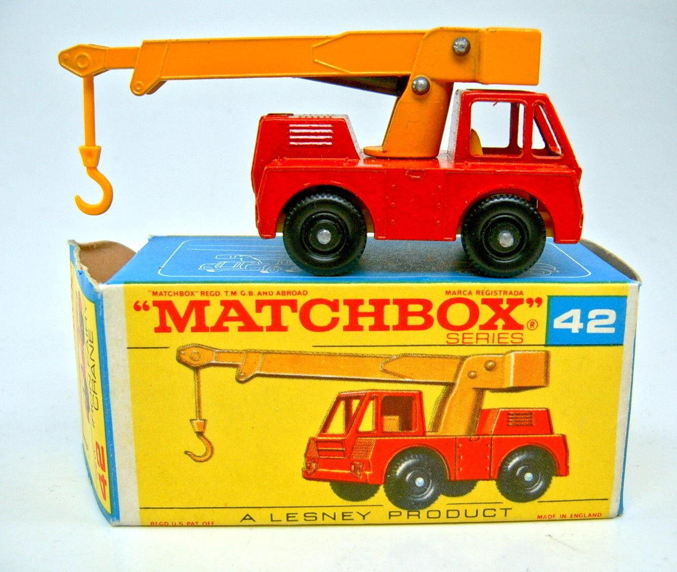 Matchbox 42c Iron Fairy Crane Red & Yellow Top in  F  Box