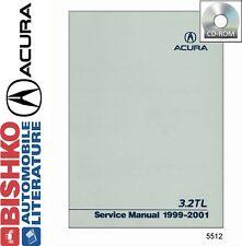 1999 2000 2001 Acura 3.2TL Service Shop Repair Manual CD