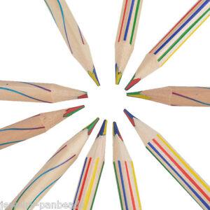 10pcs-Regenbogen-Stift-Schreibwaren-Regenbogenstift-Buntstift-17-5cm-Mehrfarbig