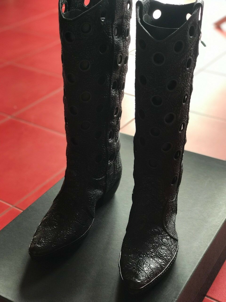 GIANNI BARBATO LEATHER Stiefel Größe 40 MADE IN ITALY