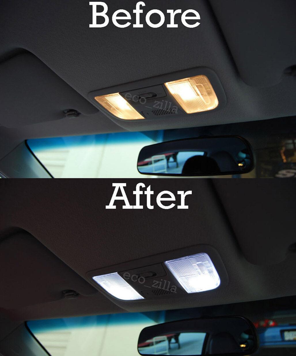 FITS 2013-2018 MITSUBISHI Outlander WHITE LED Interior Light Accessories  Kit 10x