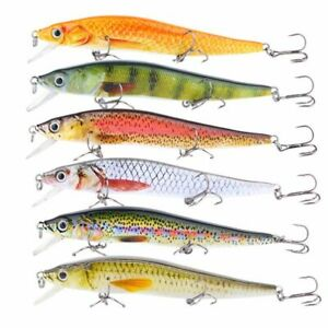12cm Minnow Fishing Lures 14.5g Realistic Hard Fish Bait With 3PCS Treble Hooks