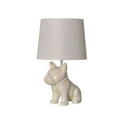 Pillowfort Bulldog Table Lamp White, French Bulldog Lamp