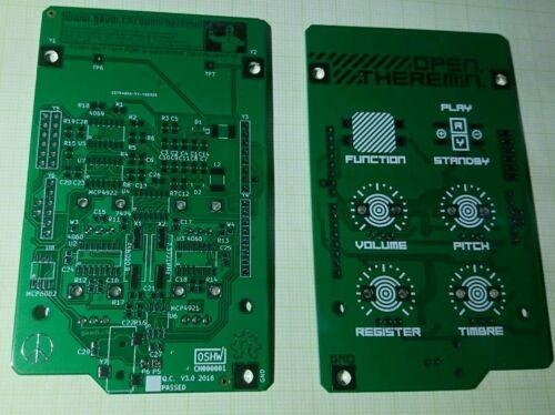 Open Theremin PCB 60x100mm V3.0 OSHW Shield for Arduino Uno Open Source Projekt