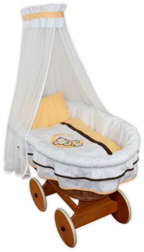 Stubenwagen Design Auswahl NEU Baby Ausstattung Janina Applikation Gestreift f