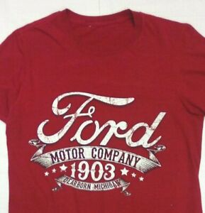 New Ford Motor Co American Classic Dearborn Mich Mens Vintage Sign T-Shirt