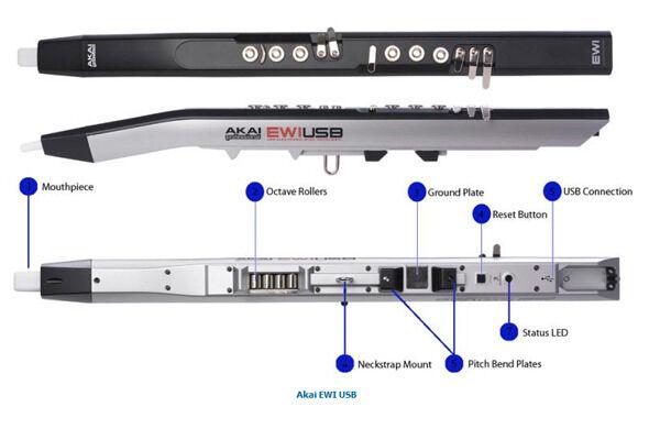 Akai Professional Ewi Usb Electronic Wind Instrument Midi