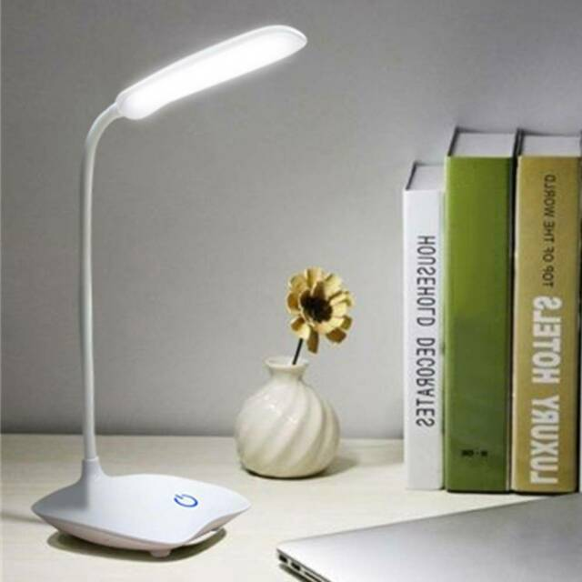 Table Lamp USB Rechargeable LED Desks Adjustable Reading Light Touch Switch Desk