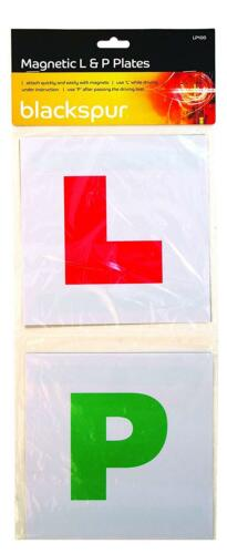 Magnetic Car Learner Plates 4pc L /& P Set  Driving Lesson Test Pass Driver Alert