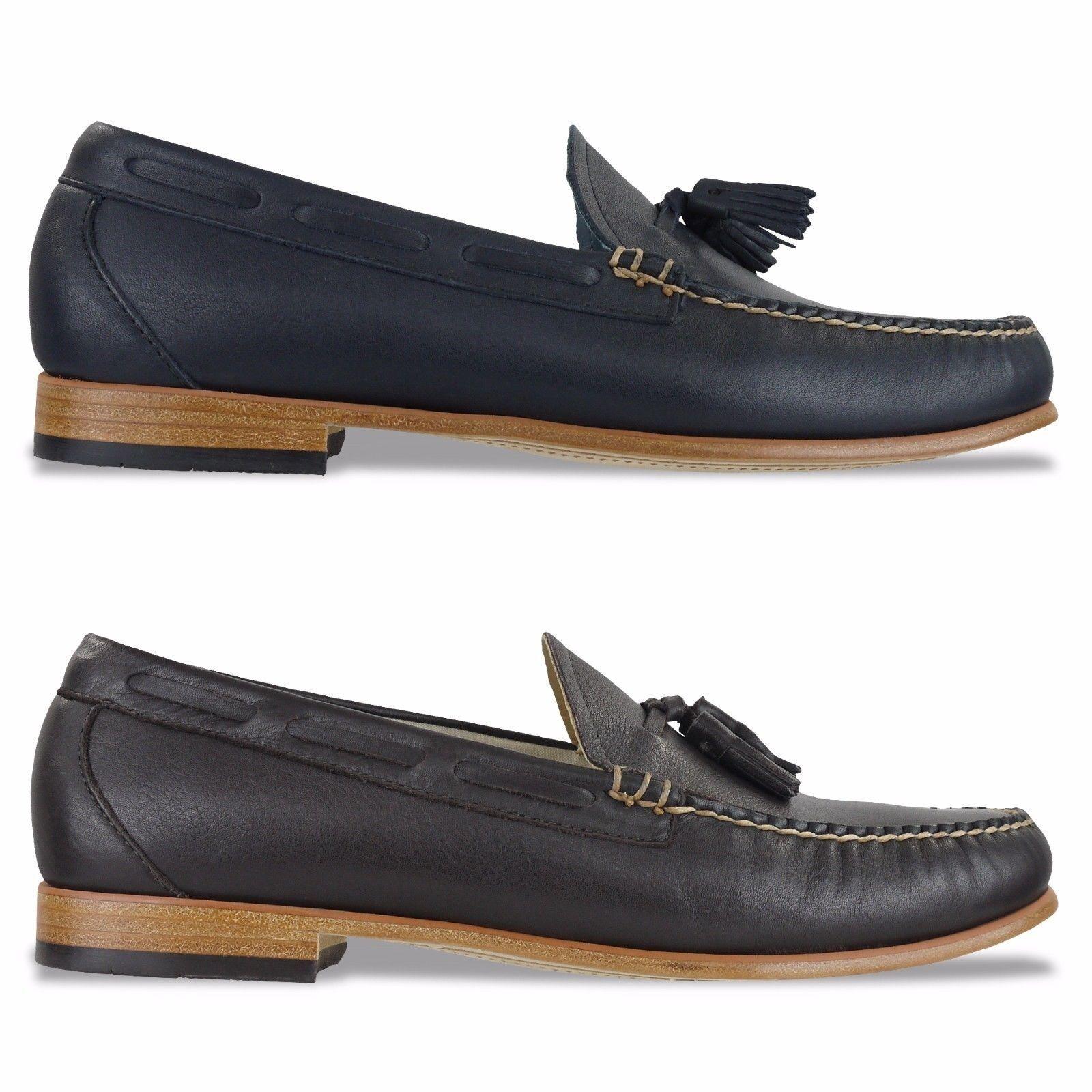 G.H Bass Weejuns Chaussures - Paume Ressorts Larkin Mocassins Cuir - Marine,