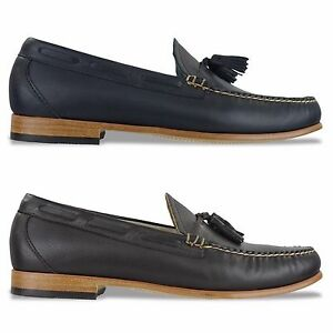 Weejuns Bass Palm Larkin Leather G h Navy Loafer Shoes Springs 8wONvmn0