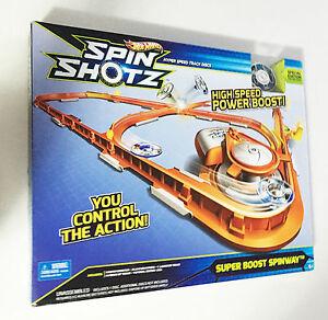 Hot Wheels Spin Shotz Rail Rip Big Car Race Track Ages 5+ Boys Girls Gift Happy