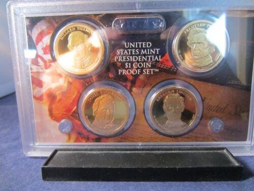 2010 S Dollar 4 Coin Proof Set President FILLMORE PIERCE BUCHANAN LINCOLN PROOF