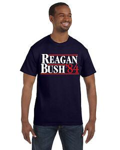 Reagan Bush 84 Ronald  George  Repulican  Election Navy Crewneck Sweatshirt