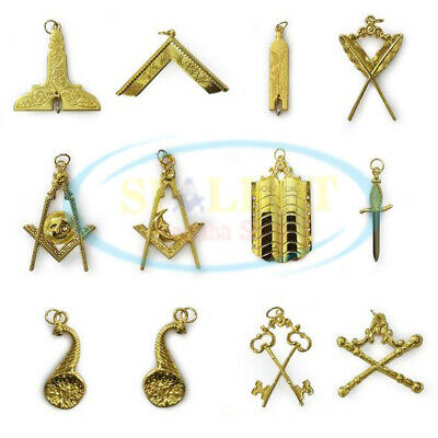 Masonic Jewels Blue Lodge Jewels Set Masonic Blue Lodge Officer Jewels Set