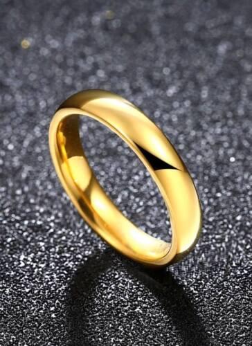 Fashion Men Women Unisex Ring gold colour Rings Titanium Steel Jewellery Jewelry
