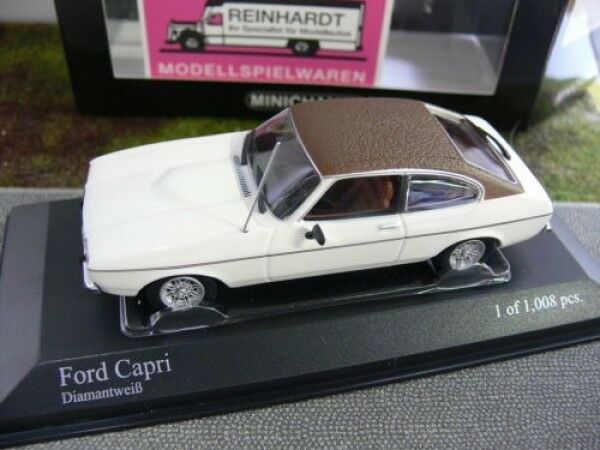 más descuento 1 43 Minichamps Ford Capri diamantweiss diamantweiss diamantweiss con techo de oscuro  artículos novedosos